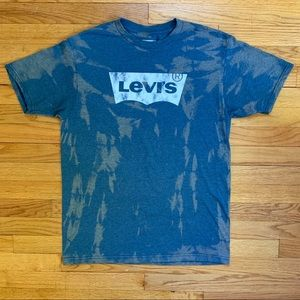 Levi's Bleach Tie Dye Acid Washed Batwing Shirt